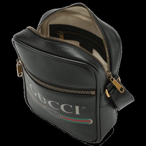 GUCCI Leather messenger bag-tablet